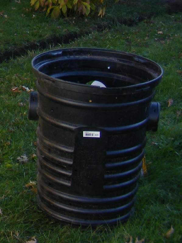 55 gallon drum for dry well