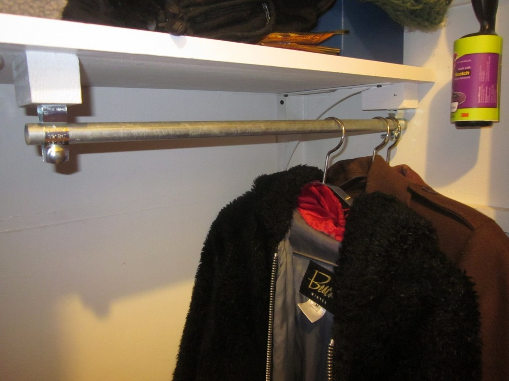 Coat Closet Rod Or Industrial Curtain Hardware D Oh I Y