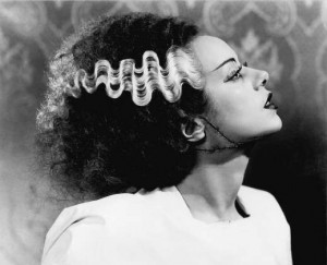 Elsa Lanchester as the Bride of Frankenstein; this is, of course, the look I'm going for.