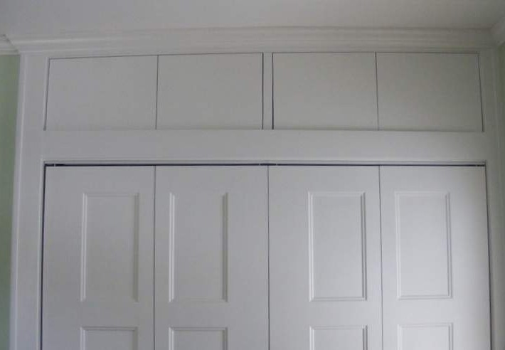Closet doors in place