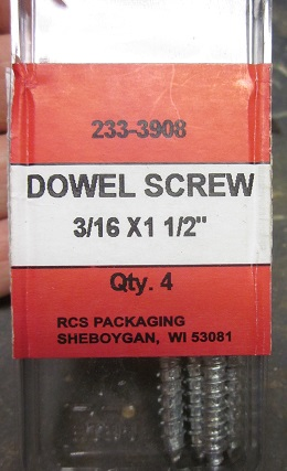 Dowel screws are just double-ended screws (something that sounds naughty but isn't) used to attach dowels to each other, or random things to dowels.