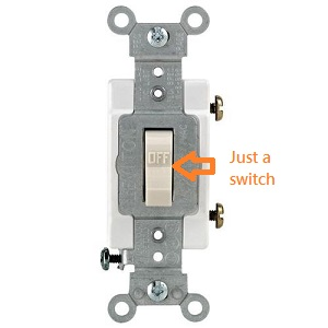 15-Amp Single Pole Switch without casing