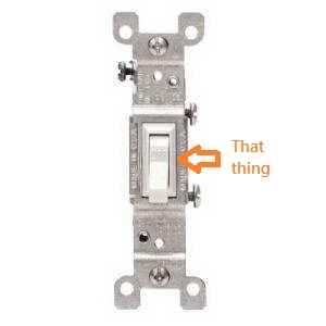 15-Amp Single Pole Switch