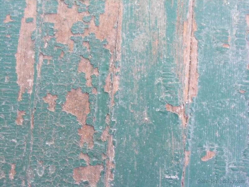 Flaky paint on porch floor