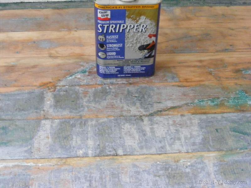 The result of using Klean-Strip Stripper on stripped floor boards