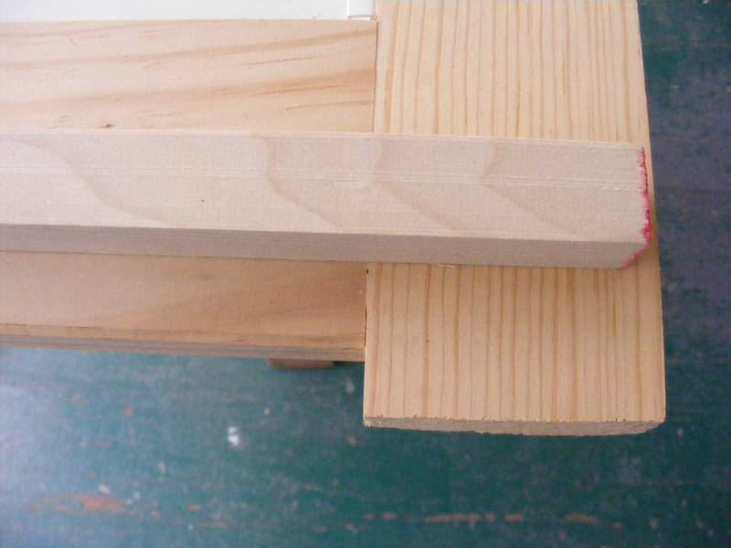"1"" dowel for filling in the top of the door."
