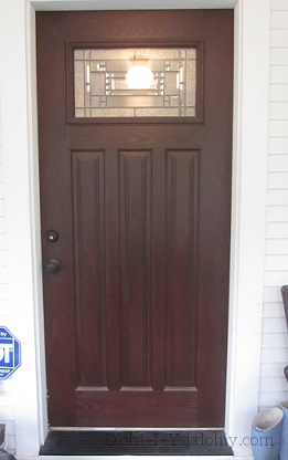 Full frontal & How to Finish a Fiberglass Door to Look Like Wood | D\u0027oh!-I-Y