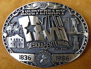Texas Sesquicentennial Buckle
