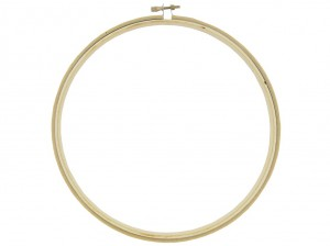 "8"" embroidery hoop -- plastic (colors!) also available"