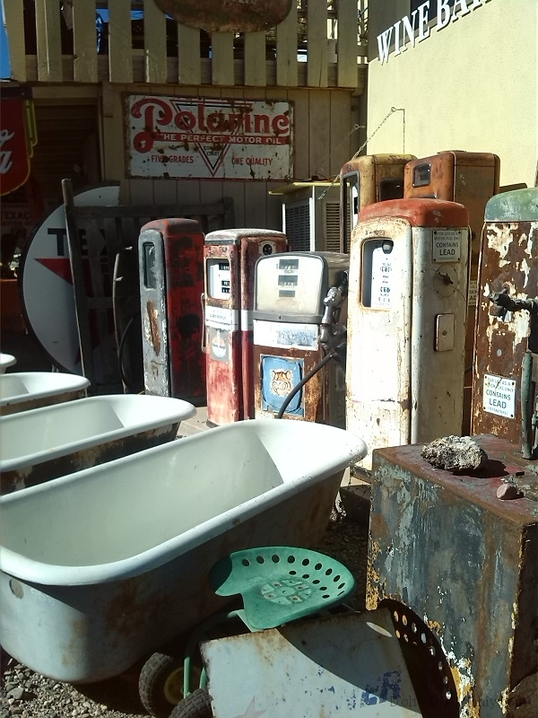 Bath tubs and gas pumps