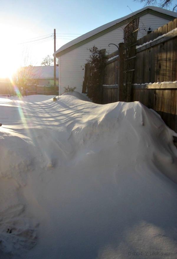 solar flare snow