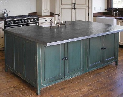 Choosing a replacement countertop before hell freezes over for Zinc countertop cost