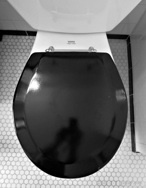 finished toilet seat