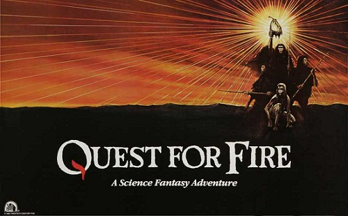 Quest for fire quad poster