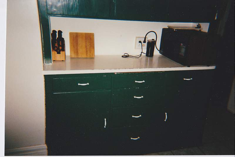 This was how the kitchen looked when we moved into the house.