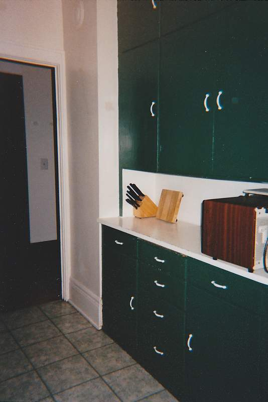 We replaced these kitchen units with modern ones in 2000.