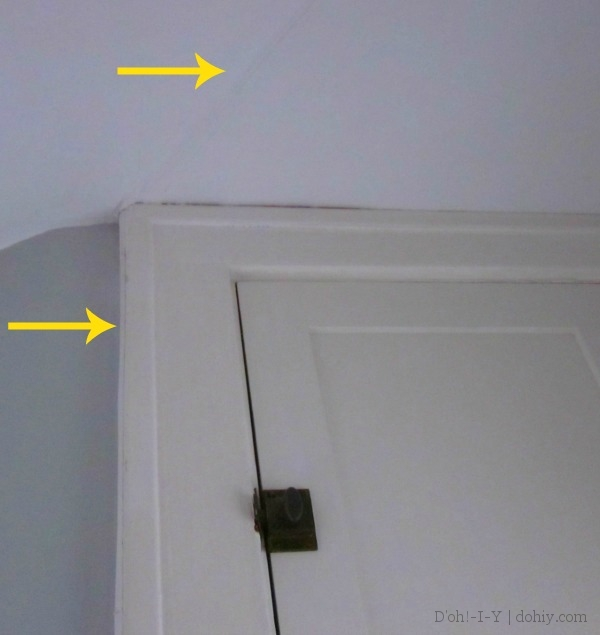 Note the wire running along the ceiling and down the side of the cabinet to connect the receiver.