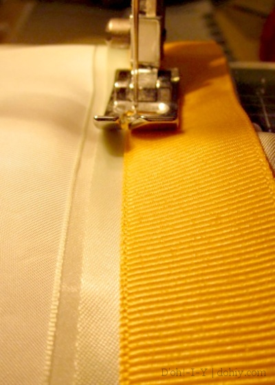 Sewing on trim