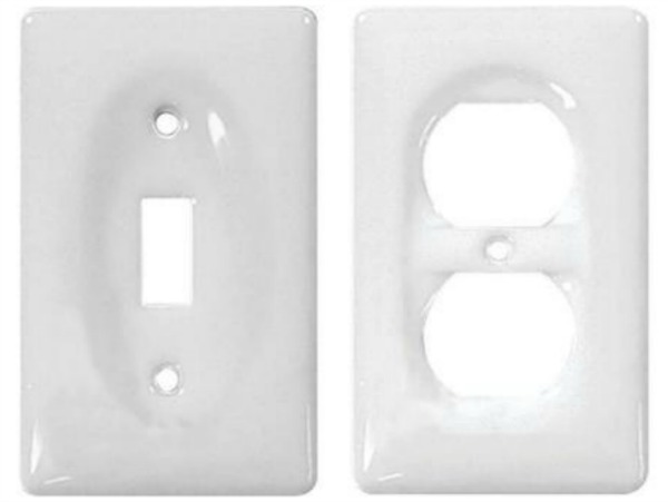 Jackson Deerfield white porcelain switch and outlet covers
