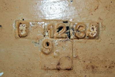 Judging by the date stamp on the flip side, the sink is from 1939, so not original to the house.