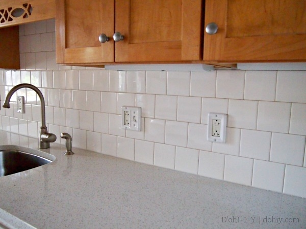finished ceramic tile backsplash in the kitchen d 39 oh i y