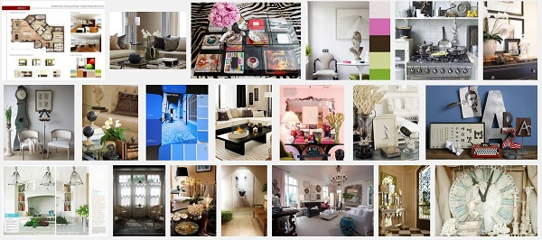 "Screenshot from image search for ""interior decor vignette"" -- at screen size, I saw four in this sample."
