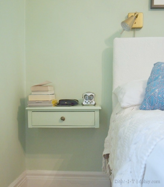 Wall Mounted Nightstand Diy: How's THAT Working Out? Floating Bedside Table