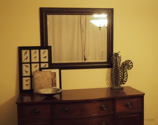 Hanging a Mirror Above Furniture DohIY