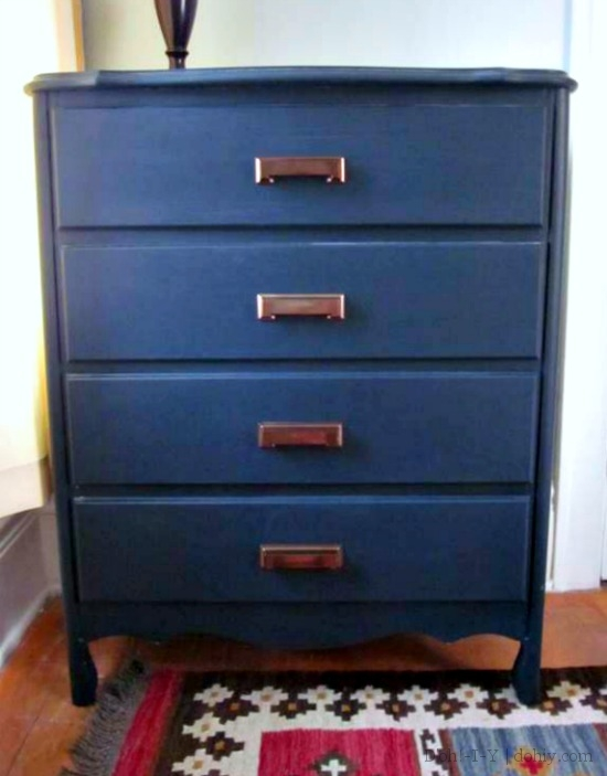 Painted dresser with replaced drawer fronts
