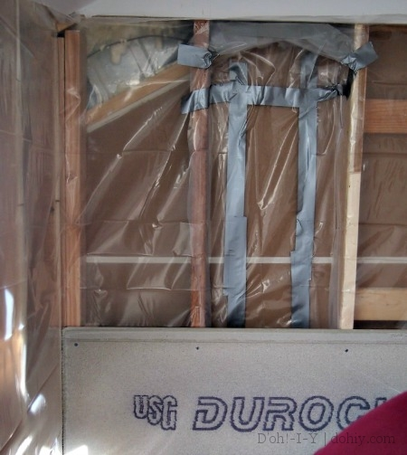 Extra vapor barrier (and duct tape)