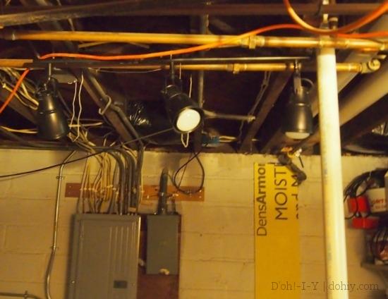 Here it is...? Super glamorous basement light!