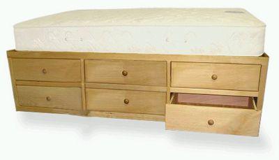 12 Drawer Queen Storage Bed By Delroc Furniture