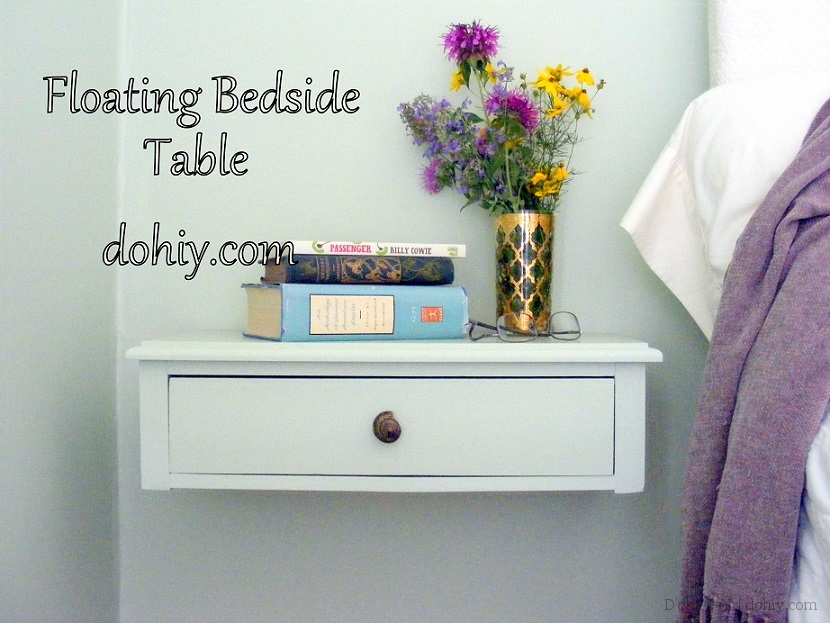 making a wall-mounted bedside table | d'oh!-i-y Floating Bedside Table