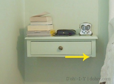 long-term pros and cons of a floating bedside table | d'oh!-i-y Floating Night Table